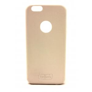 Dėklas Tellos Leather case Samsung G920 S6 kreminis