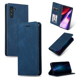 Dėklas Business Style Samsung A105 A10 tamsiai mėlynas