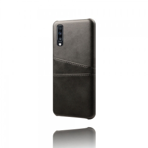 Dėklas Leather Card Case Samsung A105 A10 juodas