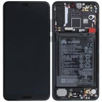 Ekranas Huawei P20 Pro su lietimui jautriu stikliuku juodas TFT HQ