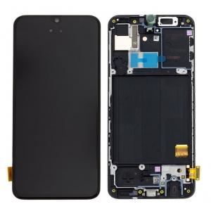 Ekranas Samsung A405 A40 su lietimui jautriu stikliuku juodas originalus (service pack)