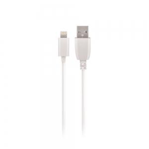 USB kabelis Maxlife Apple Lightning baltas, 1A, 1.0m