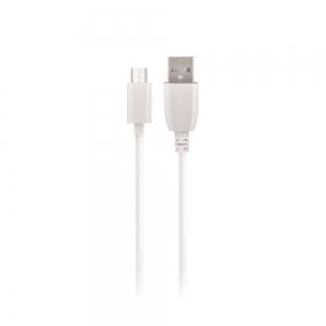USB kabelis Maxlife microUSB baltas, 1.0m