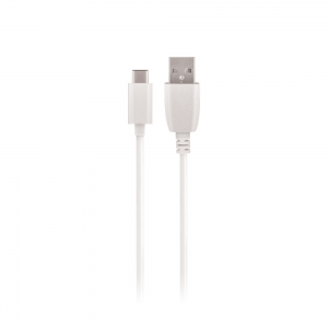 USB kabelis Maxlife Type-C FastCharging baltas, 3A, 1.0m
