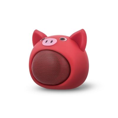 Bluetooth nešiojamas garsiakalbis Forever Sweet Animal Pig Rose ABS-100