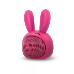 Bluetooth nešiojamas garsiakalbis Forever Sweet Animal Rabbit Pinky ABS-100 rožinis