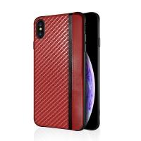 Dėklas  Mulsae Carbon  Samsung G975 S10 Plus raudonas