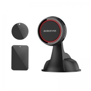 Automobilinis Universalus telefono laikiklis Borofone BH14, tvirtinamas prie lango, prietaisų skydelio trumpa-standi kojelė, magnetinis