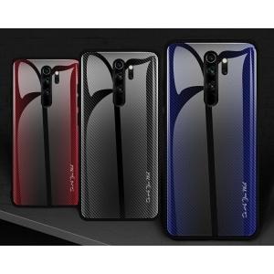 Dėklas Stripped Glass Xiaomi Redmi Note 8 Pro raudonas
