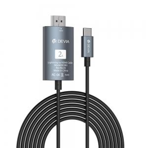 Adapteris Devia Storm Type-C-HDMI juodas
