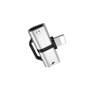 Adapteris Devia Smart iš Lightning į 2X Lightning sidabrinės spalvos