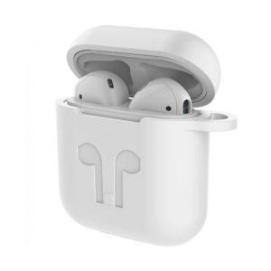 Dėklas Devia Naked Silicone Apple Airpods baltas