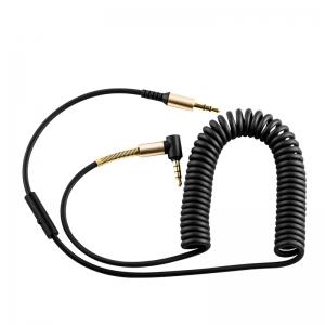 Audio adapteris Hoco UPA02 AUX 3,5mm į 3,5mm su mikrofonu juodas