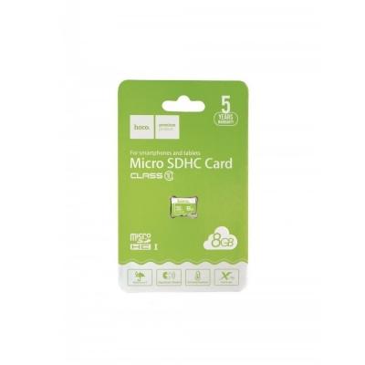 Atminties korta Hoco microSD 8Gb (class 10) be adapterio