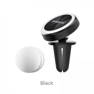 Automobilinis Universalus telefono laikiklis Borofone BH6, tvirtinamas ant ventiliacijos grotelių, magnetinis, juodas