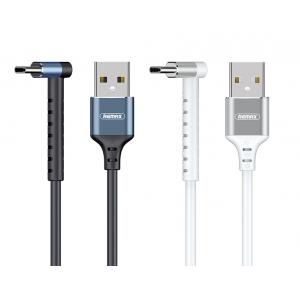 USB kabelis Remax RC-100a Type-C 2.4A baltas 1.0m