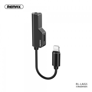 Adapteris Remax RL-LA02i iš Lightning į 2x Lightning juodas