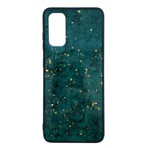Dėklas Marble Samsung G980 S20 / S11e žalias