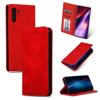 Dėklas Business Style Samsung G985 S20 Plus / S11 raudonas