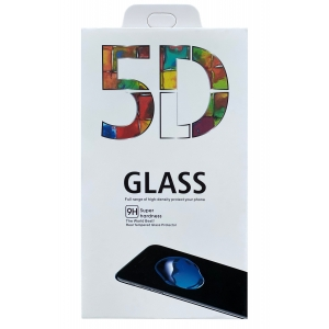 LCD apsauginis stikliukas 5D Full Glue Samsung G770 S10 Lite / G770 / A91 lenktas juodas
