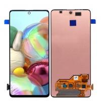 Ekranas Samsung A515 A51 su lietimui jautriu stikliuku juodas originalus (service pack)