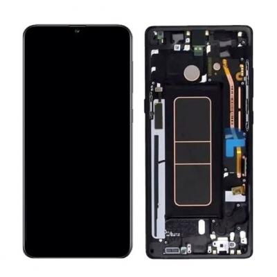 Ekranas Samsung A715 A71 su lietimui jautriu stikliuku juodas originalus (service pack)