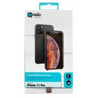 Dėklas BeHello Liquid Silicone Apple iPhone 11 Pro Max juodas