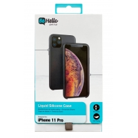 Dėklas BeHello Liquid Silicone Apple iPhone 11 Pro Max raudonas