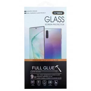 LCD apsauginis stikliukas 5D Cold Carving Samsung A715 A71 lenktas juodas