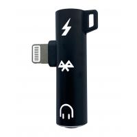 Adapteris bluetooth ADP23 iš Lightning į Lightning + 3,5mm juodas