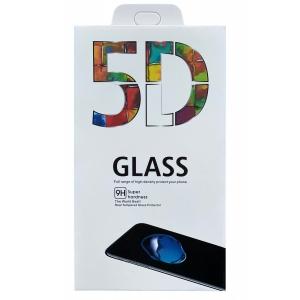 LCD apsauginis stikliukas 5D Full Glue Samsung A415 A41 lenktas juodas