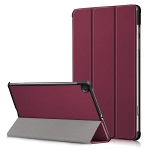 Dėklas Smart Leather Samsung P610 / P615 Tab S6 Lite 10.4 bordo