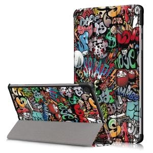 Dėklas Smart Leather Samsung P610 / P615 Tab S6 Lite 10.4 graffiti