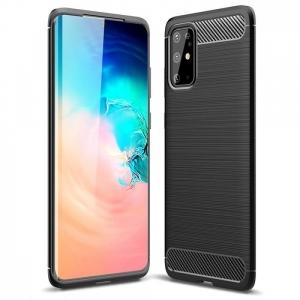 Dėklas Carbon Lux Huawei Y5P juodas