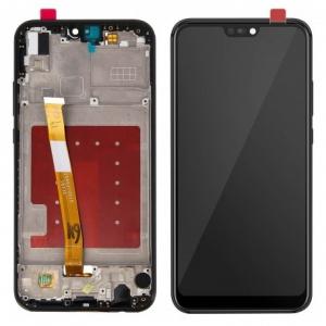 Ekranas Huawei P20 Lite su lietimui jautriu stikliuku ir rėmeliu juodas ORG