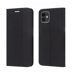 Dėklas Smart Senso Huawei P40 Lite / Nova 6 SE / Nova 7i juodas
