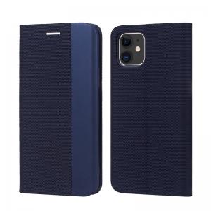 Dėklas Smart Senso Huawei P40 Lite / Nova 6 SE / Nova 7i tamsiai mėlynas
