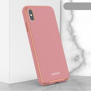 Dėklas Glass Case Apple iPhone 7 / 8 / SE2 rožinis