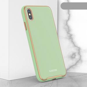 Dėklas Glass Case Apple iPhone XR šviesiai žalias