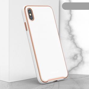 Dėklas Glass Case Apple iPhone XR baltas