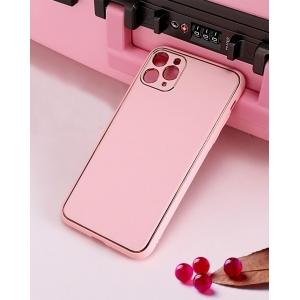 Dėklas Gold Line Apple iPhone XR rožinis