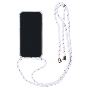 Dėklas Strap Case Apple iPhone 11 Pro Max baltas