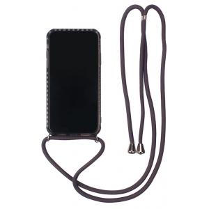 Dėklas Strap Case Apple iPhone 12 / 12 Pro juodas