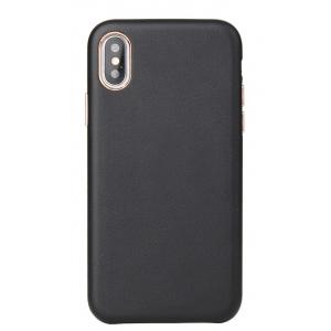 Dėklas Leather Case Apple iPhone X / XS juodas