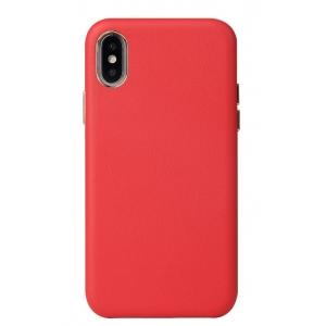 Dėklas Leather Case Apple iPhone X / XS raudonas