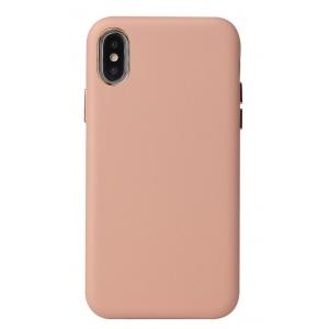Dėklas Leather Case Apple iPhone X / XS rožinis