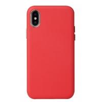 Dėklas Leather Case Apple iPhone XR raudonas