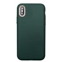 Dėklas Leather Case Apple iPhone 11 Pro Max tamsiai žalias
