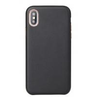 Dėklas Leather Case Apple iPhone 12 / 12 Pro juodas