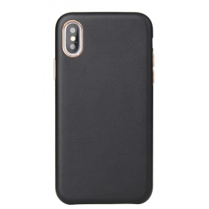 Dėklas Leather Case Apple iPhone 12 Pro Max juodas